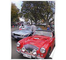"""Cars at """"Picnic at Ross"""", Tasmania Poster"""