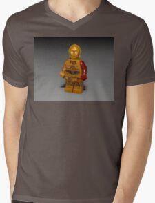 Red Arm   Mens V-Neck T-Shirt