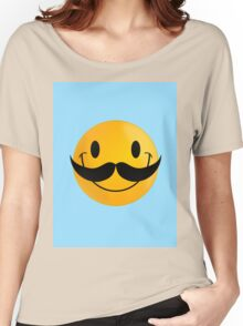 movember emoji Women's Relaxed Fit T-Shirt