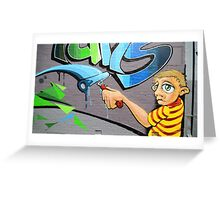 Street Painter Greeting Card