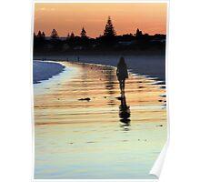 Walking into the sunset - Callala Beach Poster