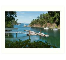 Tod Inlet, Vancouver Island Art Print