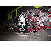Scary Face Graffiti Photographic Print