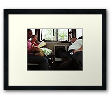 Another Day on the bus Framed Print