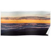 After Glow Sunset - Great Smoky Mountains National Park, Tennessee Poster