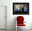 """Artwork """"Looking Through The Past To The Future"""" Displayed In Setting by Carrie Jackson"""