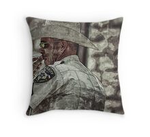Law don't go around here.  Savvy? Throw Pillow