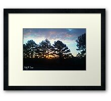 Plein Air Horizon Framed Print