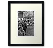 Leathers on Young Street 1969 Framed Print