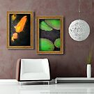 "Paintings ""Coy Kiss and Lily Pads"" Displayed In Setting by Carrie Jackson"