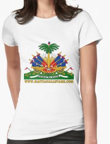 Haitian Coat of Arms  Womens Fitted T-Shirt