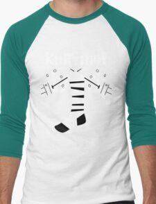 Knitting!  Men's Baseball ¾ T-Shirt