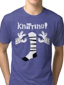 Knitting!  Tri-blend T-Shirt