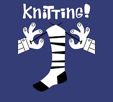 Knitting!  Womens Fitted T-Shirt