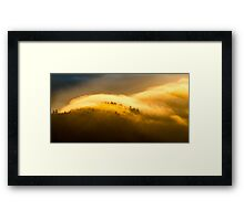 Morning Fire Detail - Great Smoky Mountains National Park, North Carolina Framed Print