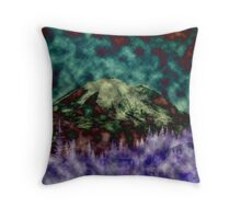 Mountain Floral Throw Pillow