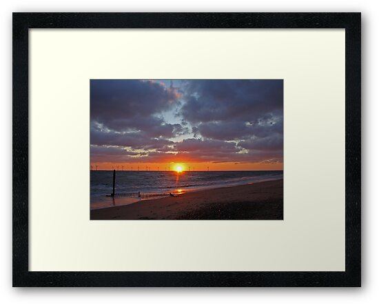 Caister Beach Sunrise by Sandra Cockayne
