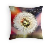 A Long Lesson in Humility Throw Pillow