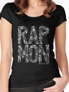 Rap Monster - BTS Member Logo Series (White) Women's Fitted Scoop T-Shirt