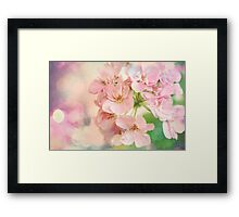 Candy Pink, Lime Green, Vanilla Cream Framed Print