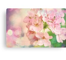 Candy Pink, Lime Green, Vanilla Cream Canvas Print