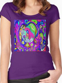 Saturday in the Park Women's Fitted Scoop T-Shirt