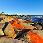 Fiery Dawn, Binalong Bay, Bay of Fires Tasmania by bevanimage