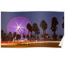 sky wheel light trail Poster