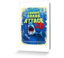 Zombie Shark Attack Greeting Card