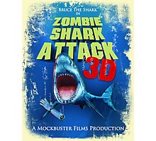 Zombie Shark Attack Photographic Print