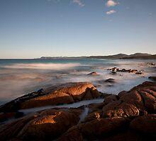 Friendly Beaches Sunrise, Tasmania by David Jamrozik