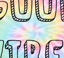 good vibes tie dye Sticker