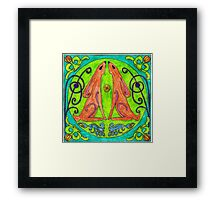 Mad March Moonhares Framed Print