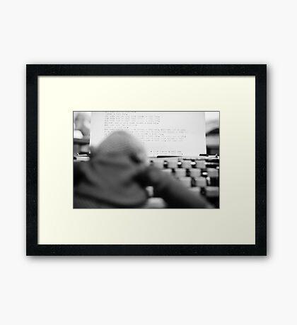 Monkey Shining Framed Print