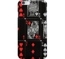Poker Card (Black) iPhone Case/Skin