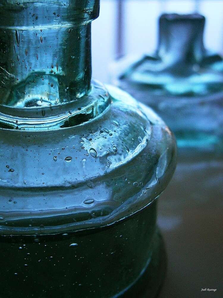 Two Blue Bottles by Judi Rustage