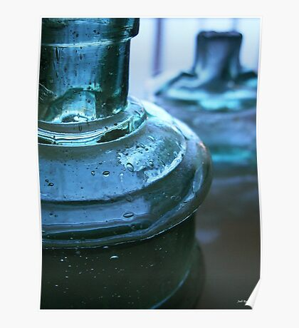 Two Blue Bottles Poster