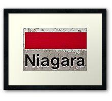 Greetings from Niagara Framed Print