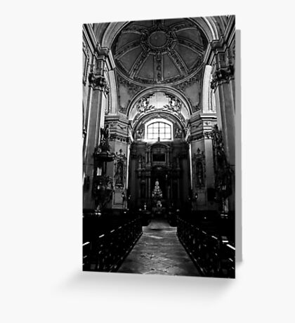 Baroque church Greeting Card