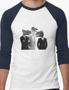 The Saurus Society - No Extinction Theory Conversation Men's Baseball ¾ T-Shirt