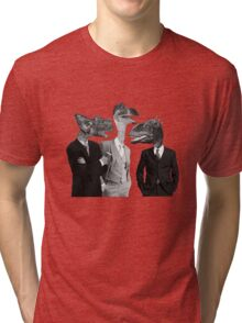 The Saurus Society - No Extinction Theory Conversation Tri-blend T-Shirt