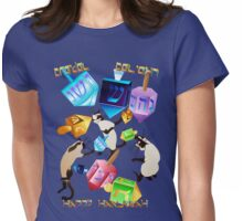 Delightful Dreidels-lettered Womens Fitted T-Shirt