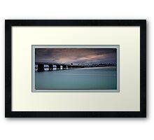 Forster Bridge nsw Framed Print