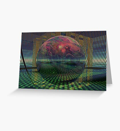 Relativity of a sphere // Atomization Greeting Card