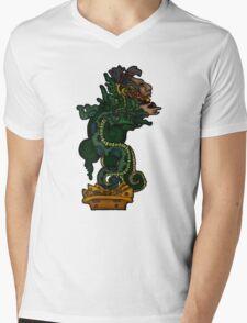 Mayan Serpent God Mens V-Neck T-Shirt