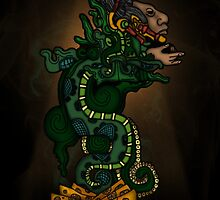 Mayan Serpent God by Adamzworld