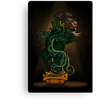 Mayan Serpent God Canvas Print