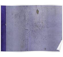 Purple texture, slightly peeling Poster