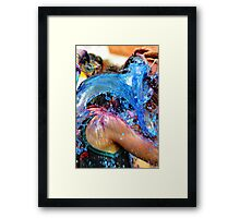 A Bucket of Blue Framed Print