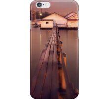 Freshwater Bay boat sheds, Swan river, Western Australia iPhone Case/Skin